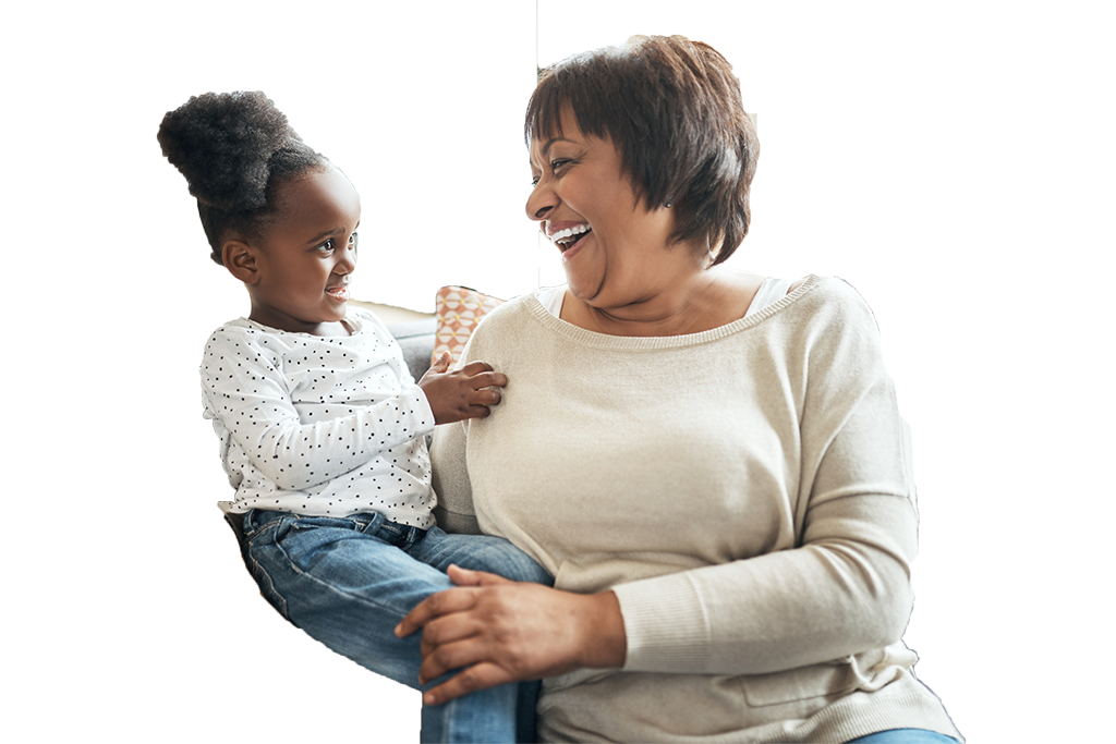African American woman with child